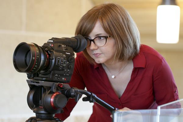Allison Hogue. Film instructor. Presidential Incentive Award.